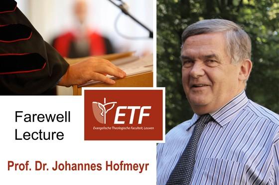 Afscheidslezing prof. dr. Johannes Hofmeyr