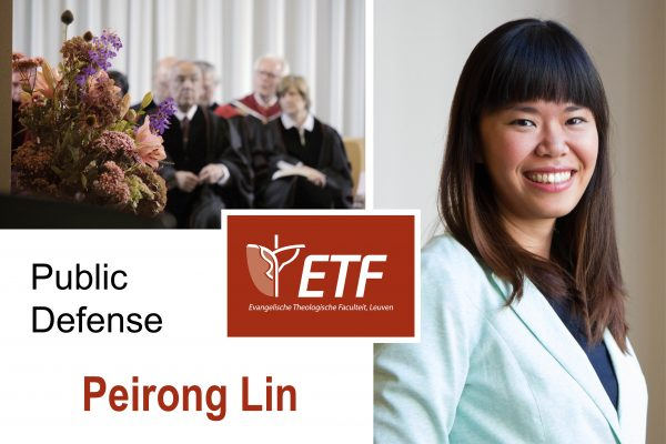 Openbare verdediging dissertatie Peirong Lin
