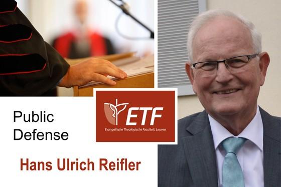 Public Defense Dissertation Hans Ulrich Reifler