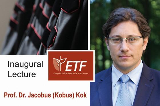 Inaugurele lezing prof. dr. Jacobus (Kobus) Kok