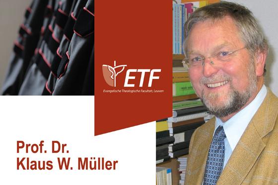 Afscheidslezing prof. dr. Klaus W. Müller